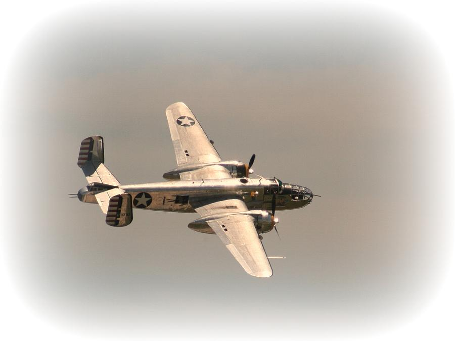 World War II B25 Mitchell Bomber Photograph
