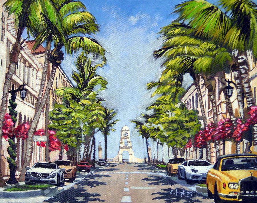 Worth Avenue Palm Beach Florida Painting By Christine