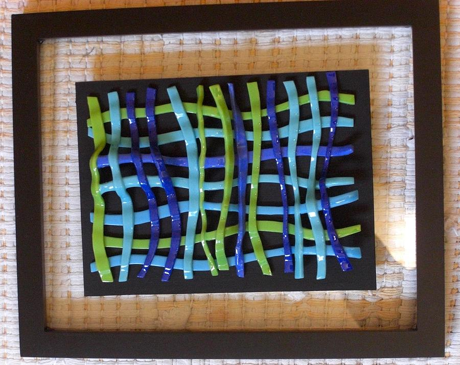 Fused Glass Glass Art - Woven Glass -2 by Judy Jones