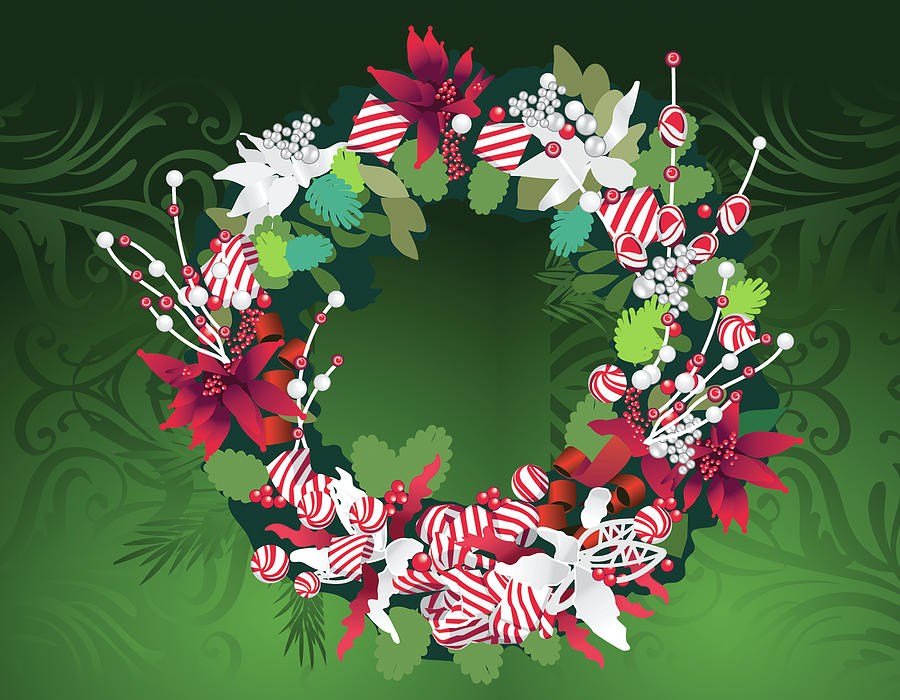 Wreath Digital Art