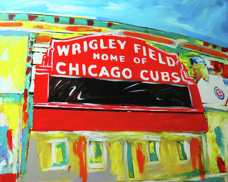 Wrigley Field is a painting by Elliott From which was uploaded on ...