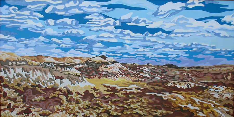 Abstracted Realism Painting - Wyoming Afternoon by Dale Beckman