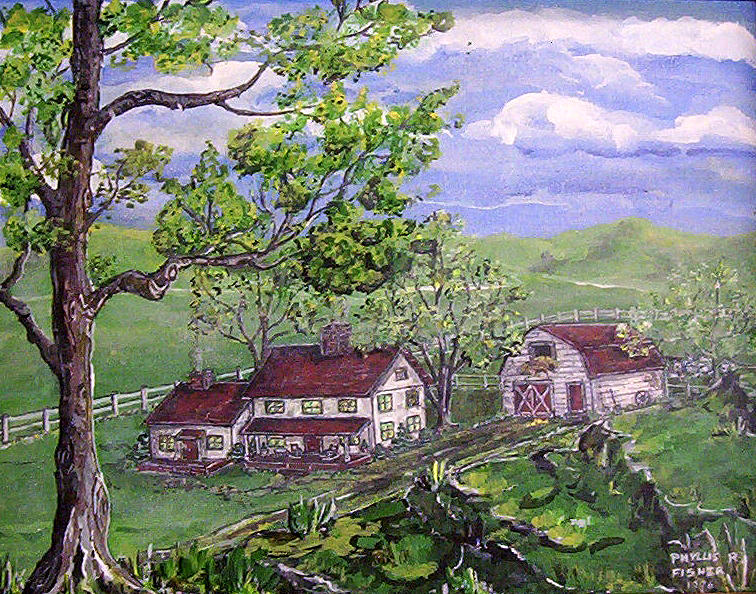 Wyoming Homestead Painting