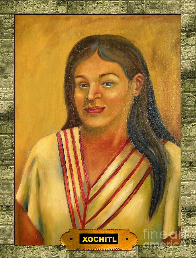 Xochitl Painting - Xochitl Illustration  by Lilibeth Andre