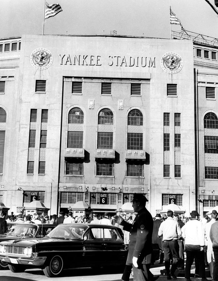 1960s Candids Photograph - Yankee Stadium, Fans Arrive To Watch by Everett