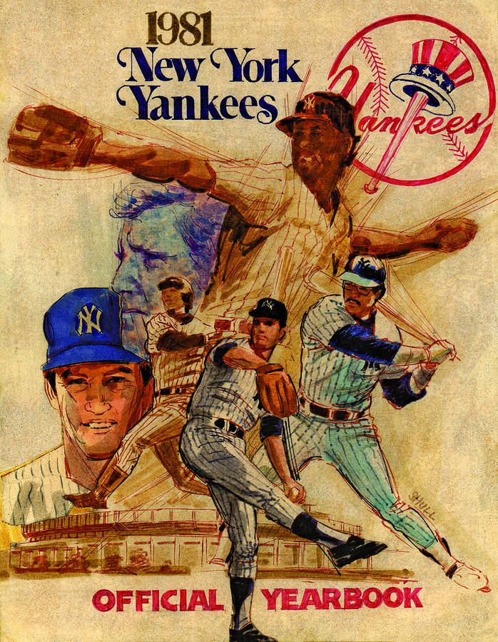 Yankees Spring Training Yearbook Cover Drawing