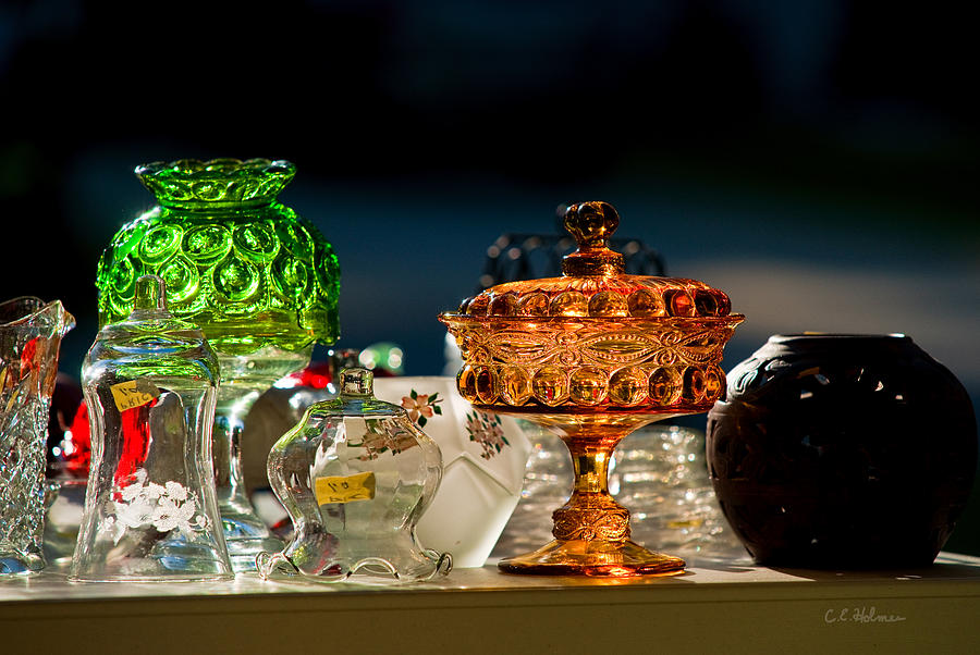 Glass Photograph - Yard Sale Treasures by Christopher Holmes