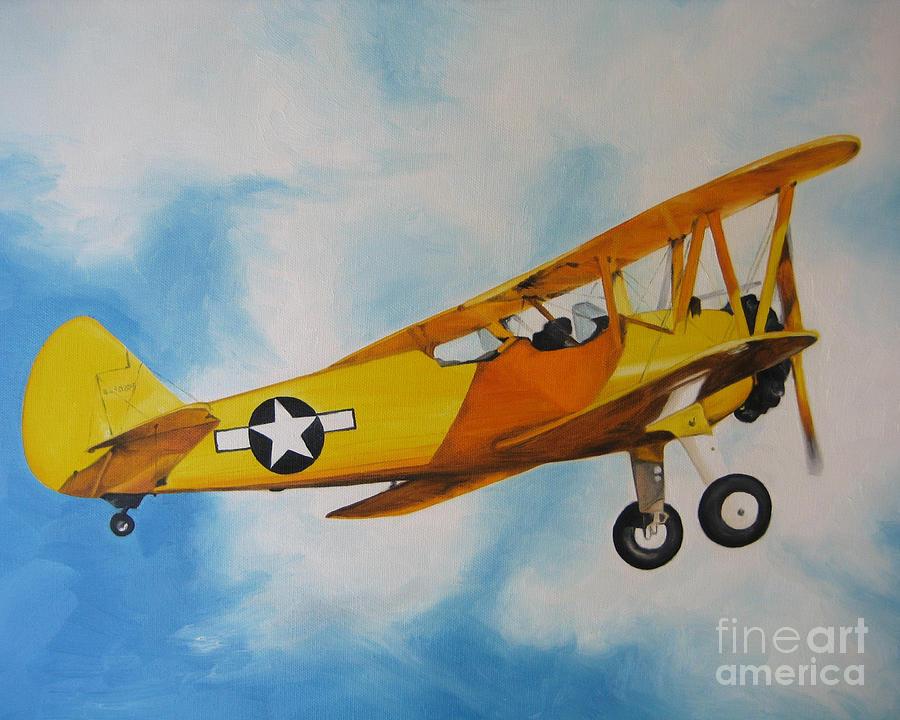 Yellow Airplane - Detail Painting
