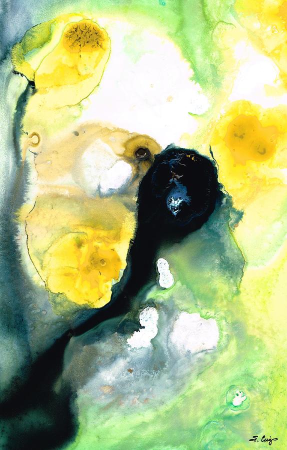 abstract yellow green drawing - photo #24