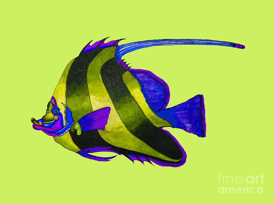 Yellow fish painting painting by the one eyed raven for One eyed fish