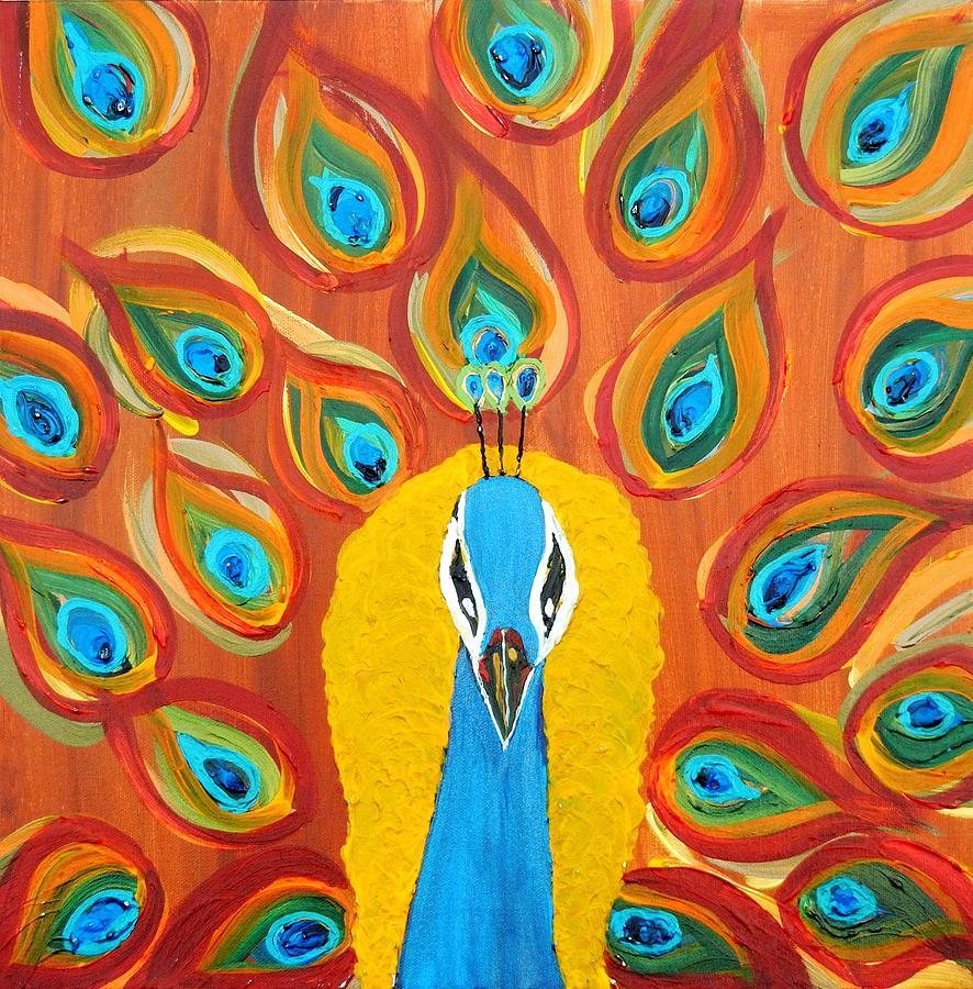 Indian peacock art