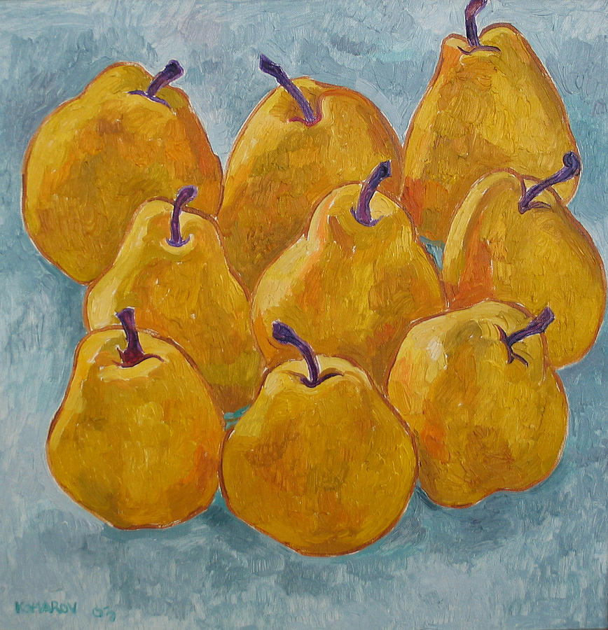 Yellow Pears Painting