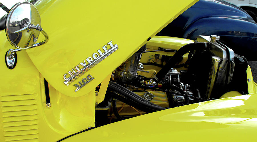 Canary Yellow Photograph - Yellow Truck by Kristie  Bonnewell