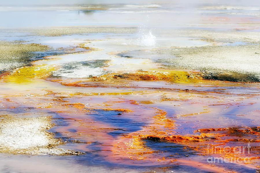 Colorful Photograph - Yellowstone Abstract II by Teresa Zieba