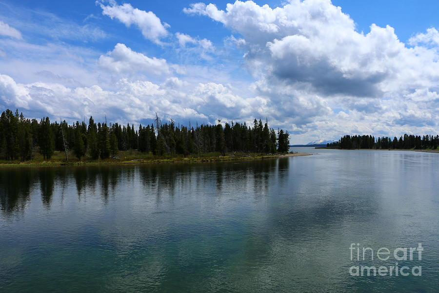 Yellowstone lake at fishing bridge photograph by for Yellowstone lake fishing