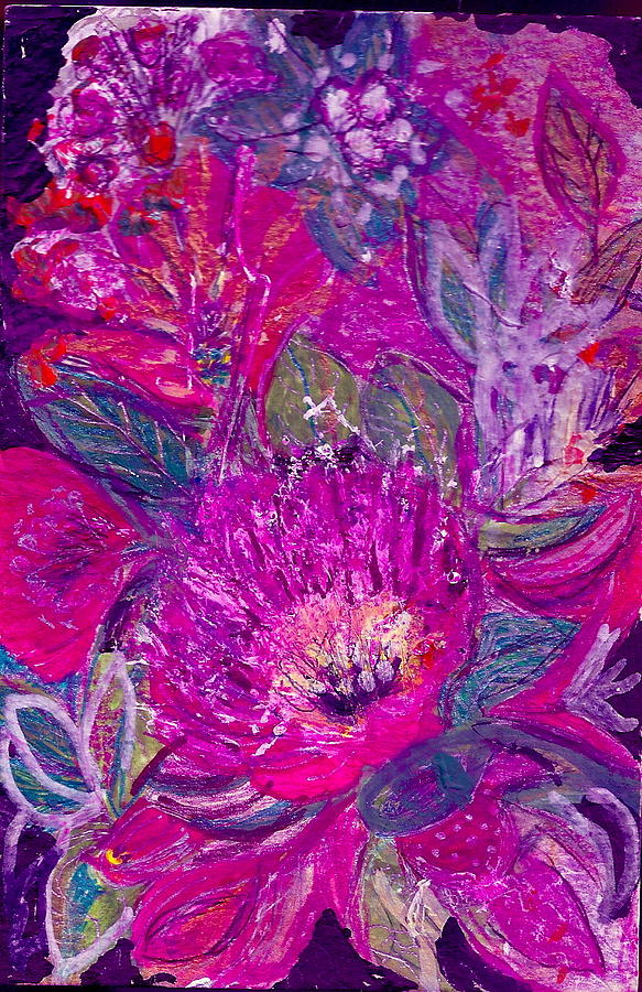 Flowers Painting - Yet I Still Wait For You by Anne-Elizabeth Whiteway