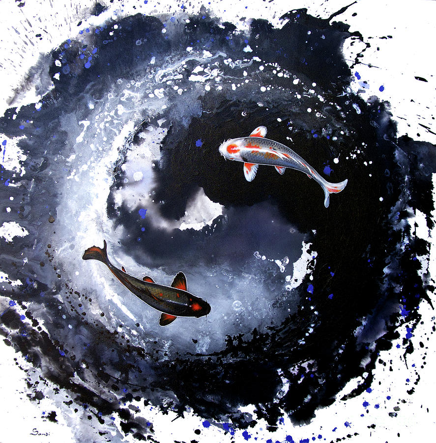 Yin yang fish painting