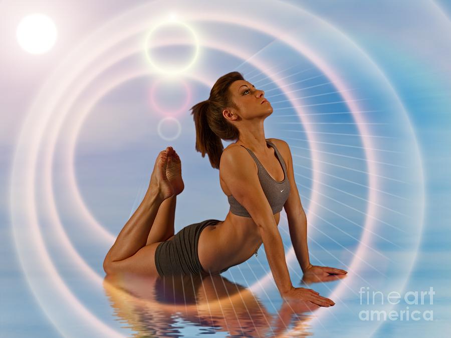 Girl Photograph - Yoga Girl 1209206 by Rolf Bertram