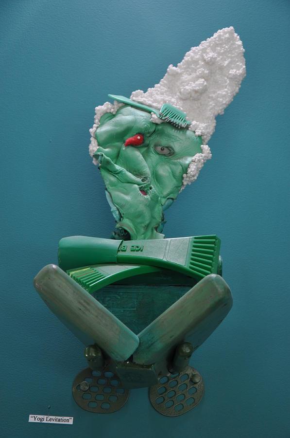 Green Sculpture - Yogi Levitation by Michael Jude Russo