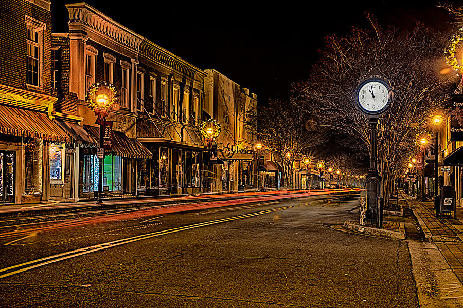 York South Carolina Downtown During Christmas Photograph