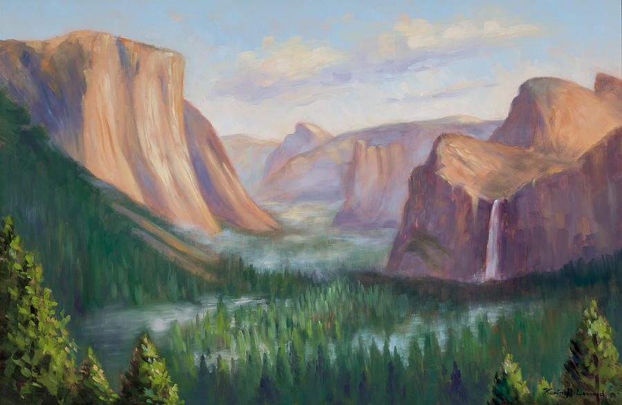 Yosemite Painting Painting - Yosemite Valley by Karin  Leonard