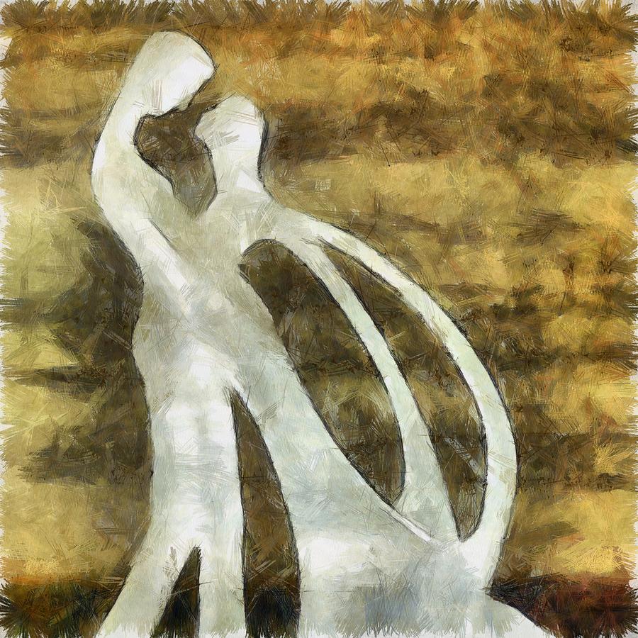 Love Digital Art - You And I 1 by Angelina Vick
