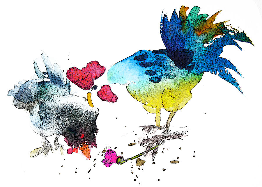 Fun Painting - You Are My Sweet Heart by Miki De Goodaboom