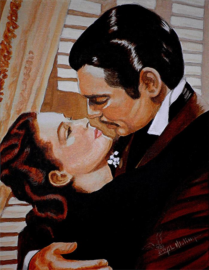 Gone With The Wind Painting - You Need Kissing Badly by Al  Molina