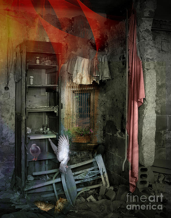 Digital Digital Art - You Shouldn T Be Here by Aniko Hencz