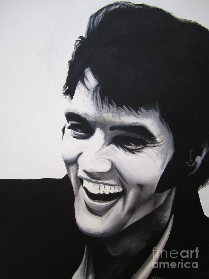 Young Elvis Painting