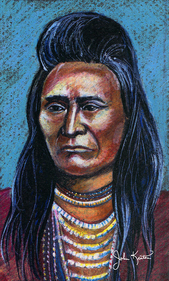 American Indian Painting - Young Indian by John Keaton