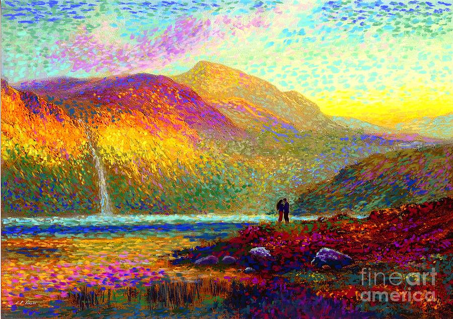 Your Love Colors My World, Modern Impressionism, Romantic Art Painting