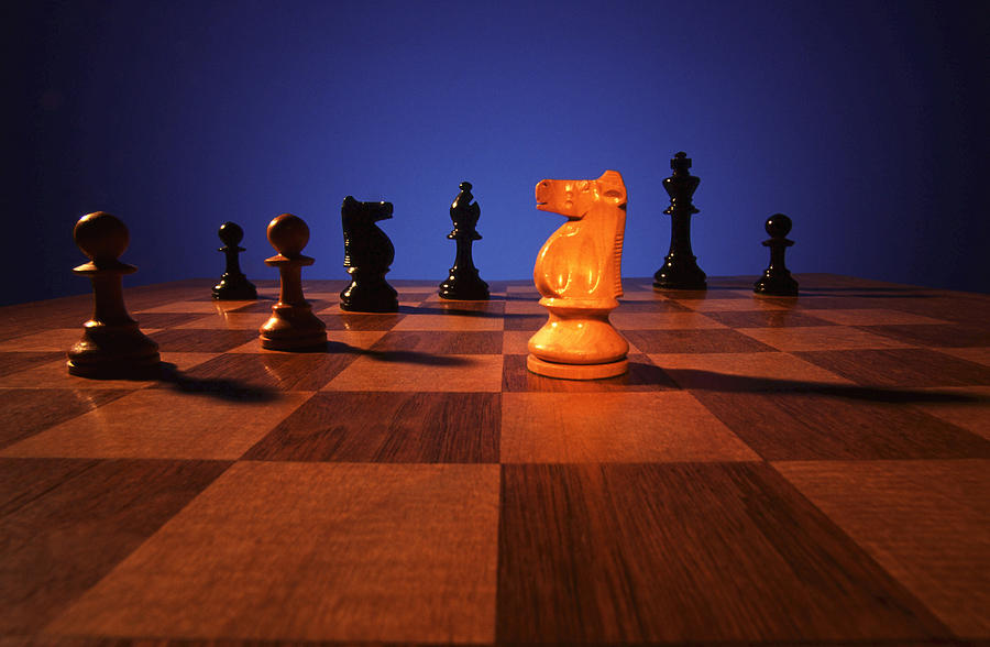 Knight; Chess; Strategy; Strategic; Game; Games; Board Game; Plan; Planning; Think; Thought; Concentrate; Concentration; Decision; Choice; Choices; Option; Options Photograph - Your Move by Gerard Fritz