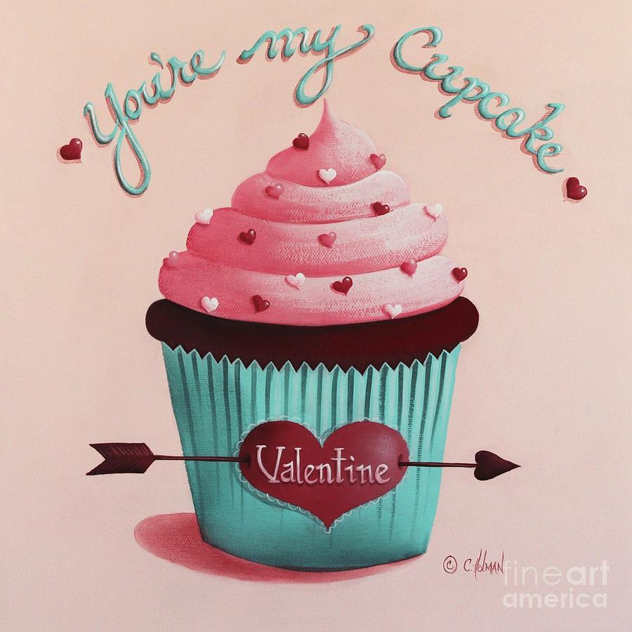 Youre My Cupcake Valentine Painting