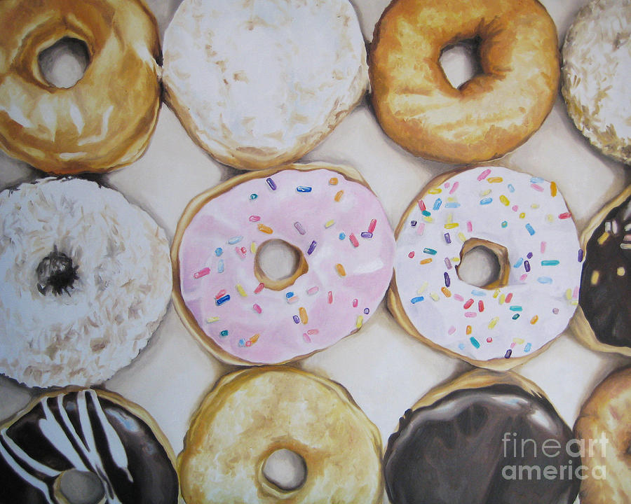 Noewi Painting - Yummy Donuts by Jindra Noewi