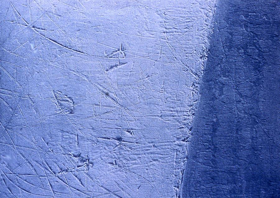 Hockey Painting - Zambonied Ice by Ken Yackel