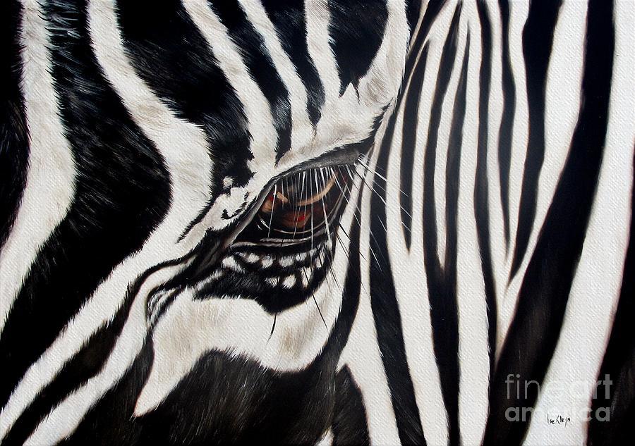 Zebra Painting - Zebra Eye by Ilse Kleyn