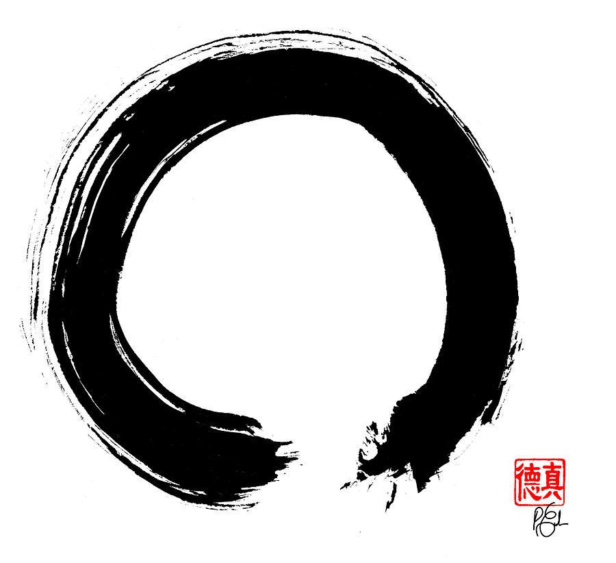 Zen Circle Five Painting By Peter Cutler