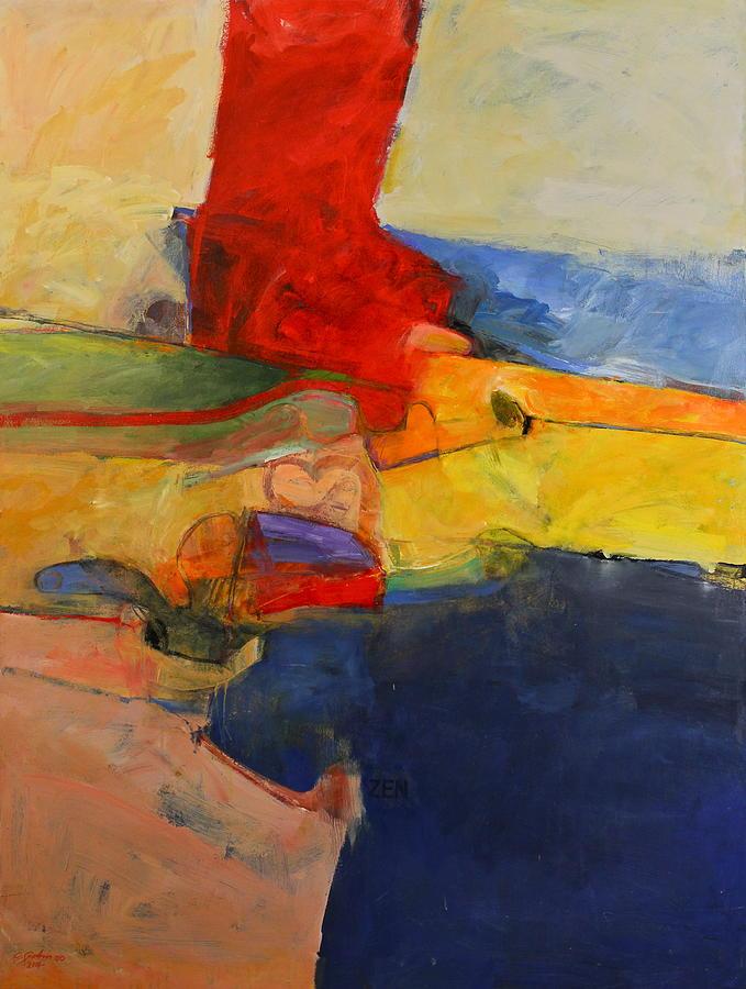 Zen Harbor Painting by Cliff Spohn