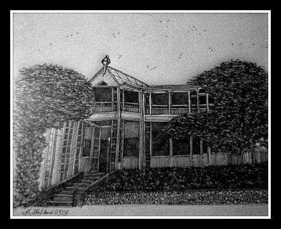 Ziarat Residency Painting - Ziarat Residency by Asif Kasi