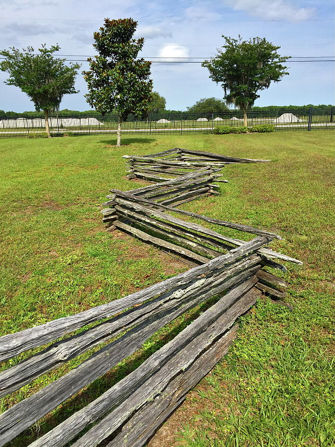 Zig zag fence photograph by denise mazzocco