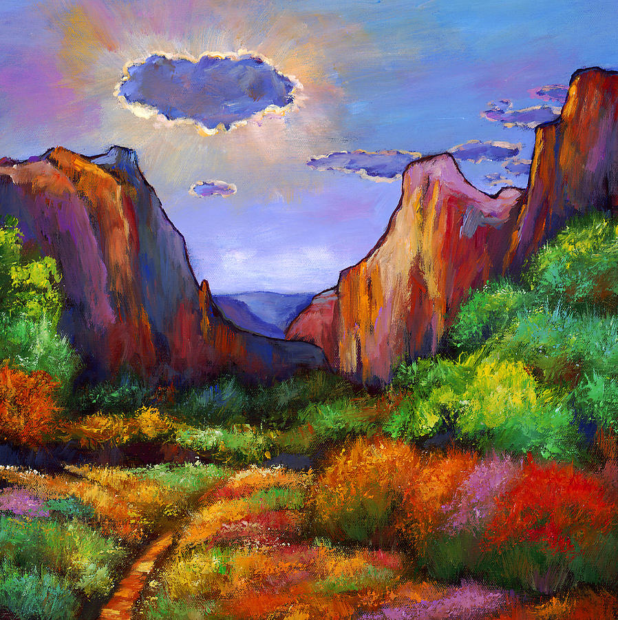 Southwest Landscapes Painting - Zion Dreams by Johnathan Harris