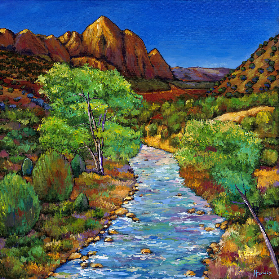 National Parks Painting - Zion by Johnathan Harris