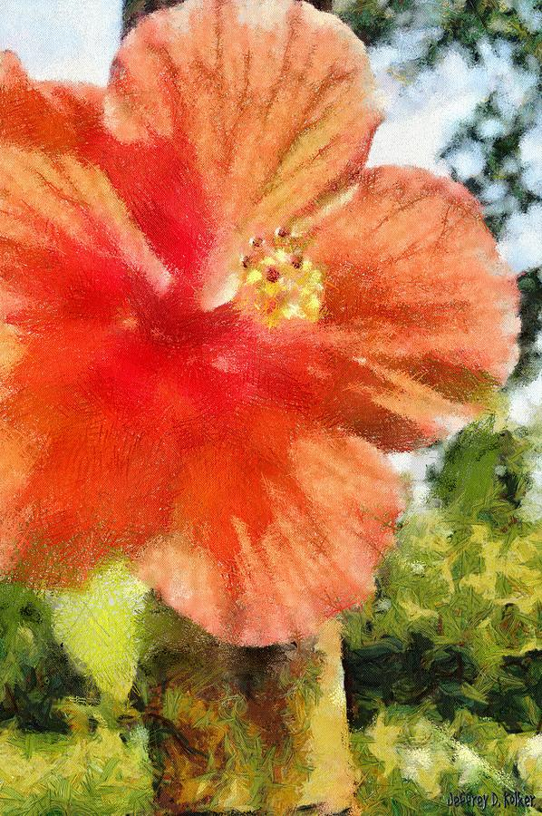 Zoo Painting - Zoo Flower by Jeff Kolker