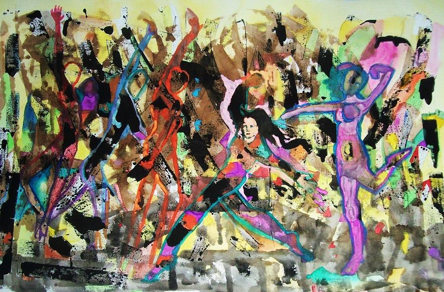 Dance Painting - Zumba by James Christiansen