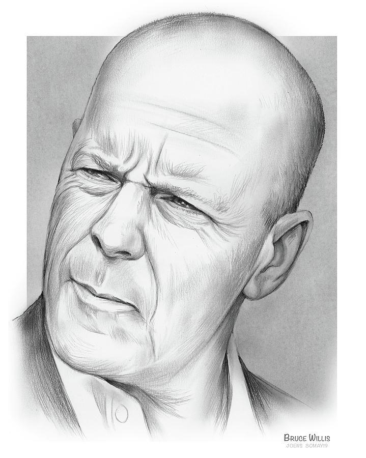 Bruce Willis Drawing