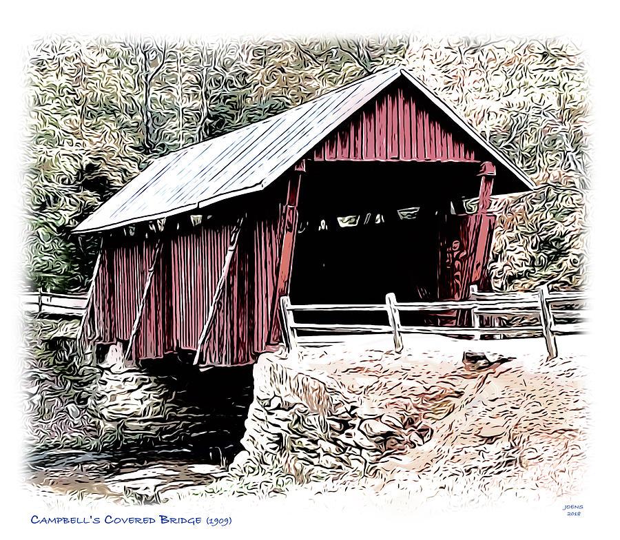 Campbells Covered Bridge Digital Art