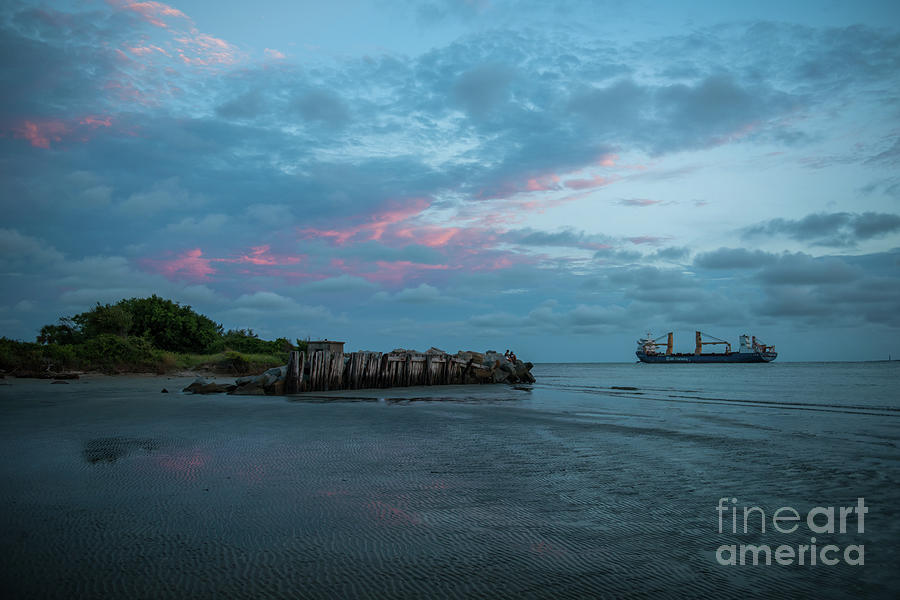 Charleston Harbor - Sunset Photograph