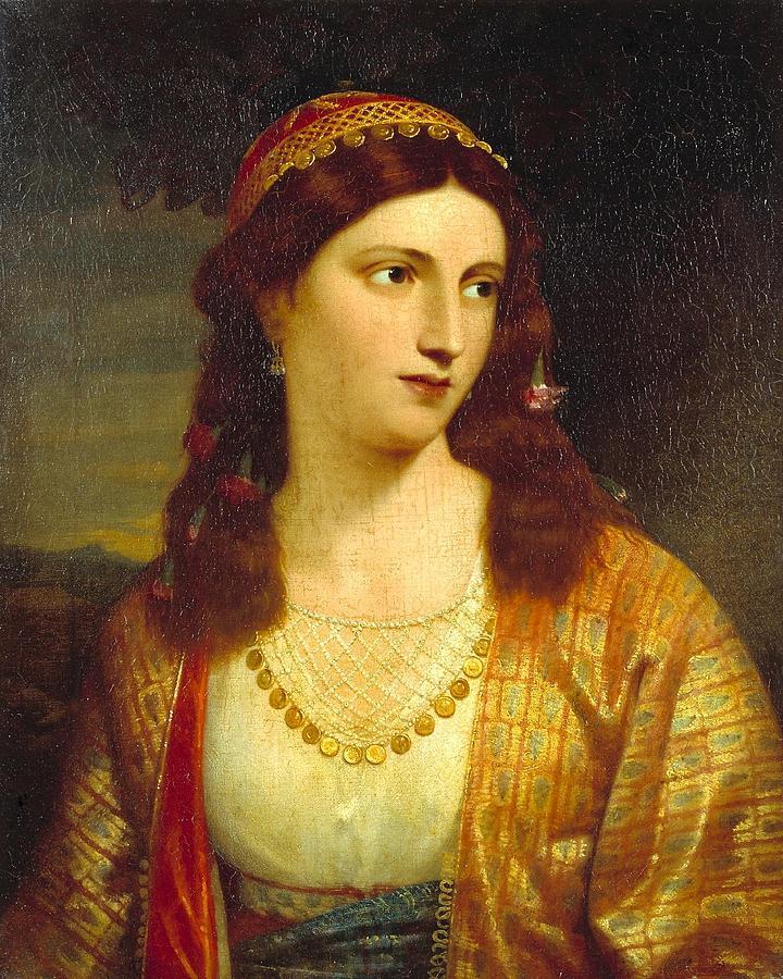 Greek Girl Painting