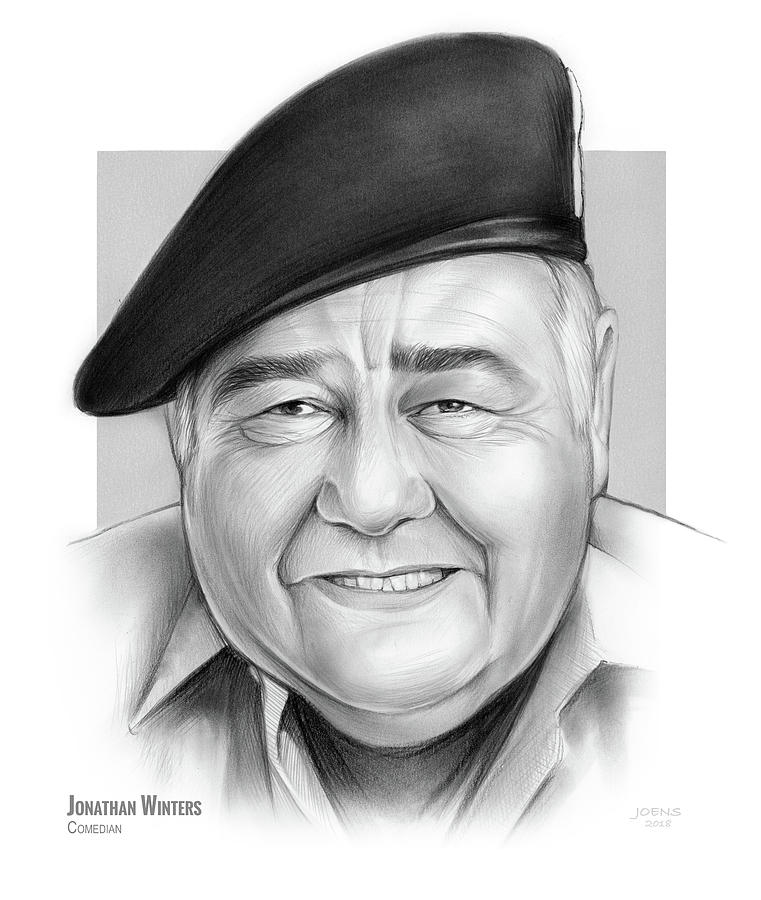 Jonathan Winters Drawing